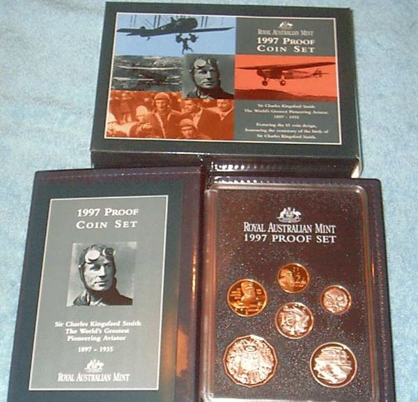 Australian cased Proof sets
