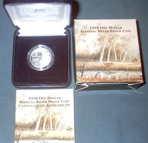 ONE DOLLAR cased SILVER PROOFS
