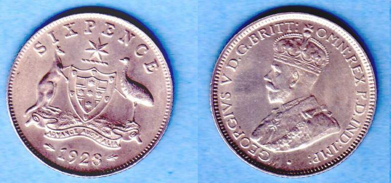 Sixpence 1928