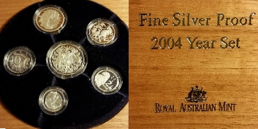 6-COIN FINE SILVER PROOF SET 2004
