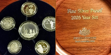 6-COIN FINE SILVER PROOF SET 2005